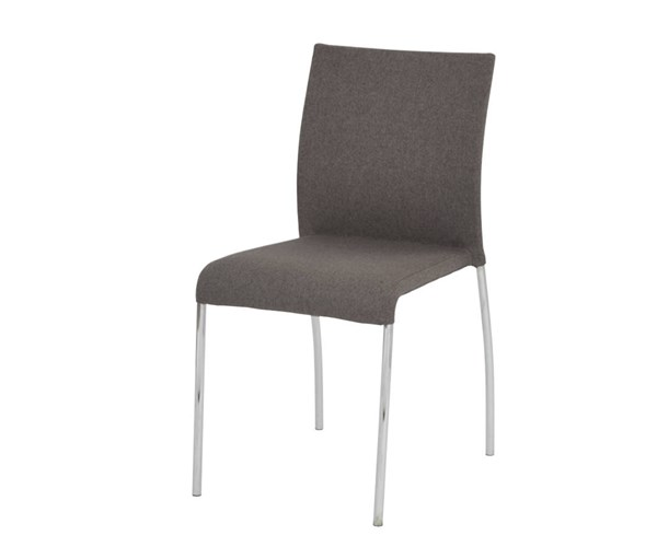 2 Conway Smoke Fabric Chrome Legs Fully Assembled Stacking Chairs OSP-CWYAS2-CK002
