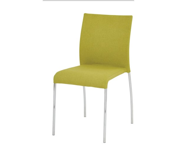 2 Conway Green Fabric Chrome Legs Fully Assembled Stacking Chairs OSP-CWYAS2-CK005