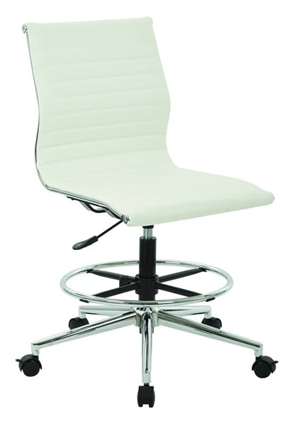 DC Series Aluminum Metal Faux Leather Mid Back Armless Chair OSP-DC3830C-CH-VAR