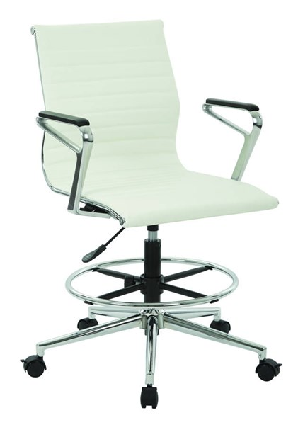 DC Series Modern White Aluminum Metal Faux Leather Mid Back Chair OSP-DC3837C-U11