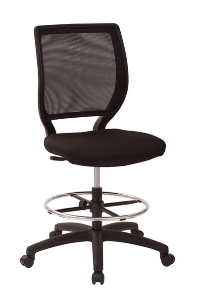 DC Series Black Woven Mesh Seat & Back Metal Armless Drafting Chair OSP-DC51000N-231