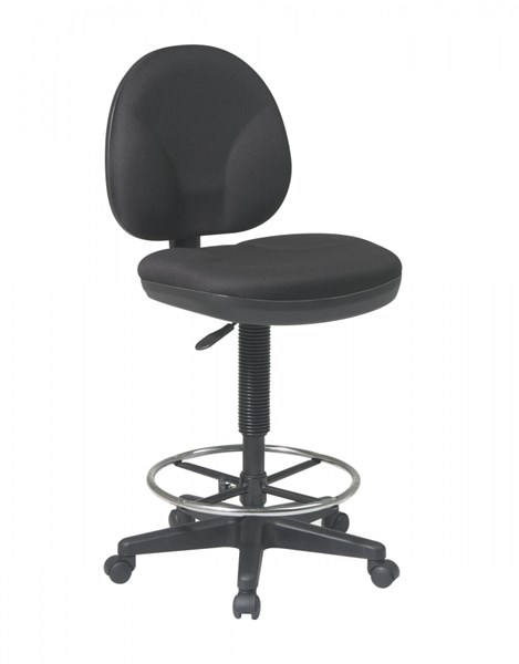 DC Series Black Sculptured Seat & Back Drafting Chair OSP-DC550-231