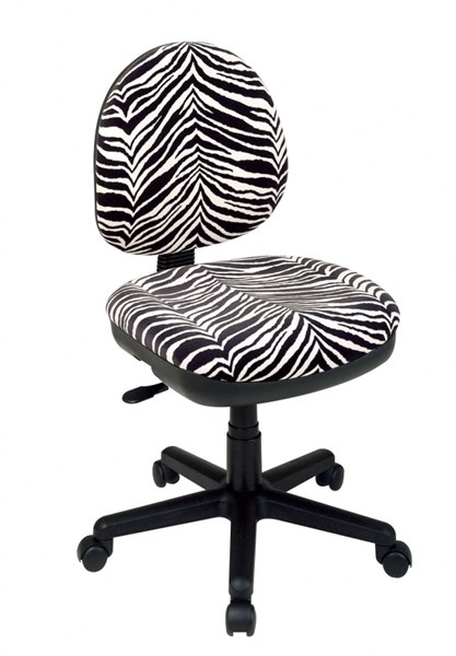 Black White Contemporary Task Chair w/Flex Back OSP-DH3400-237