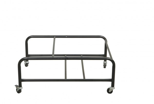 Black Grey Armless & Backless Stacking Dolly W/2 Locking Casters OSP-DOL8302