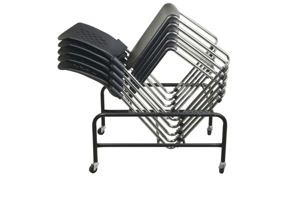 30 STC Series Black Sled Base Stack Chairs (Ships w/Dolly) OSP-STC865-3-DOLLY