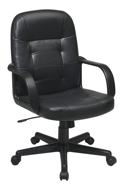 EC Series Black Bonded Leather Tilt Control Executive Chair OSP-EC3393-EC3