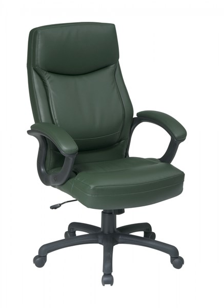 EC Series Green High Back Bonded Leather Executive Chair OSP-EC6583-EC16