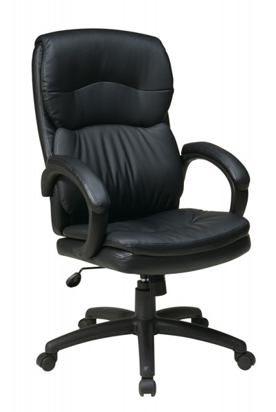 EC Series Black High Back Bonded Leather Padded Arms Executive Chair OSP-EC9230-EC3