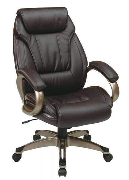 ECH Series Bonded Leather Executive Chairs w/Padded Arms & Coated Base OSP-ECH306-CH-VAR