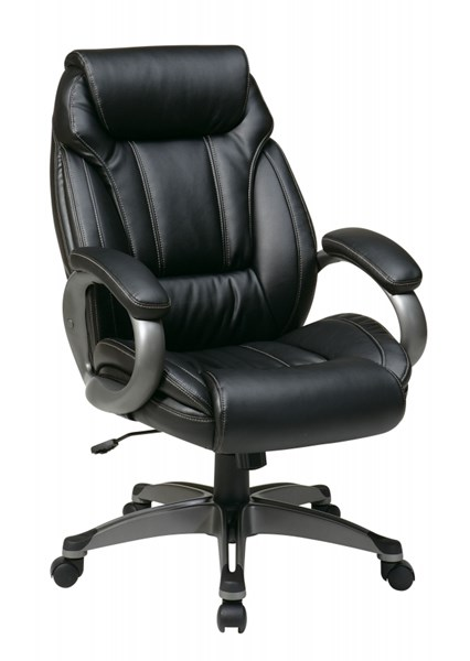 Black Bonded Leather Padded Arms Executive Chair OSP-ECH30627-EC3