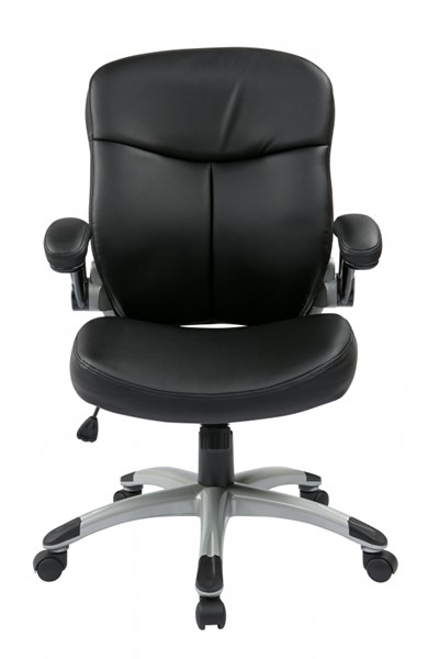 ECH Series Silver Black Mid Back Bonded Leather Executive Chair OSP-ECH37816-EC3