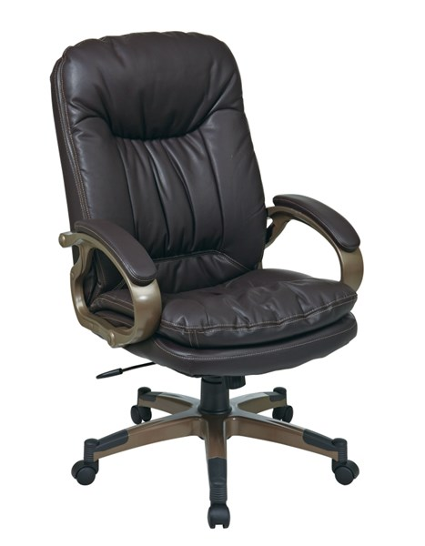 ECH Series Espresso Bonded Leather Padded Arms Executive Chair OSP-ECH83501-EC1