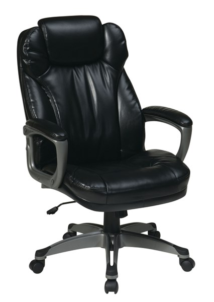 ECH Series Black Bonded Leather Nylon Chairs w/Padded Arms OSP-ECH85807-EC-VAR