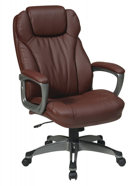 Wine Bonded Leather Padded Arms Executive Chair OSP-ECH85807-EC6