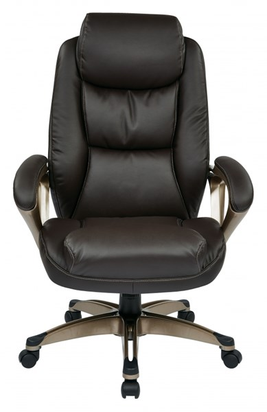 ECH Series Cocoa Metal Espresso Bonded Leather Executive Chair OSP-ECH89181-EC1