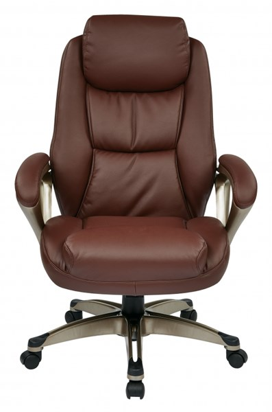 ECH Series Wine Cocoa Metal Bonded Leather Executive Chair OSP-ECH89181-EC6