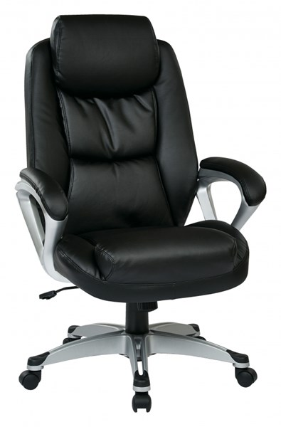 ECH Series Black Leather Nylon Chairs w/Padded Arms OSP-ECH8918-CH-VAR