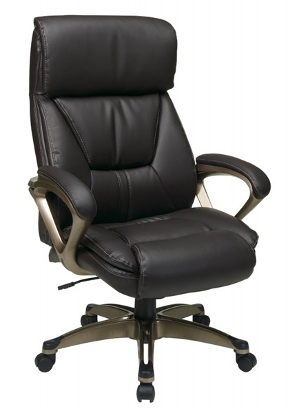 ECH Series Espresso Leather Padded Arms Executive Chair OSP-ECH89301-EC1