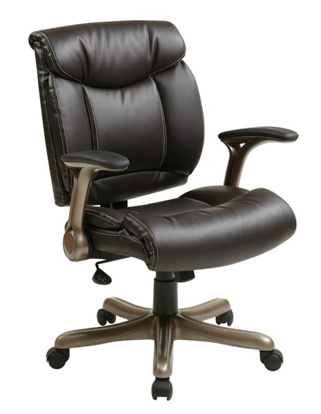 ECH Series Cocoa Espresso Bonded Leather Executive Chair OSP-ECH8967K5-EC1