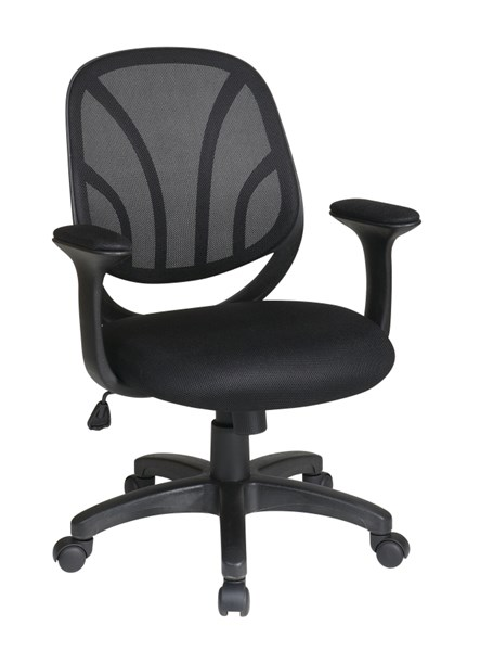 EM Series Black Screen Back & Mesh Seat Managers Chair w/T - Arms OSP-EM20522-3