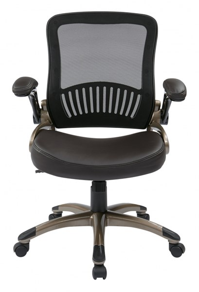 EM Series Screen Back & Bonded Leather Seat Managers Chairs OSP-EM3520-CH-VAR