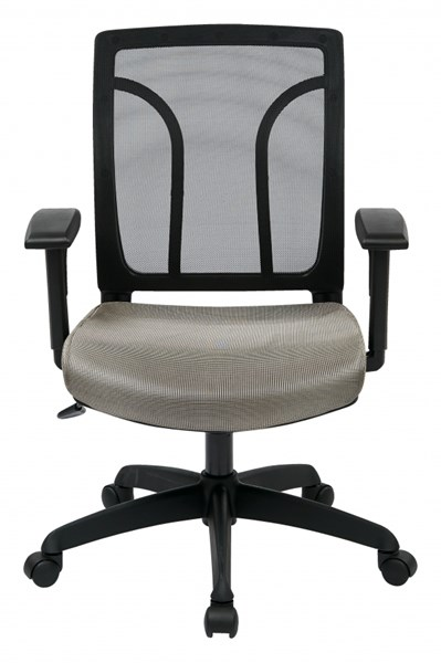 Black Grey Screen Back Chair w/Mesh Seat w/Height Adjustable Arms OSP-EM50727-2