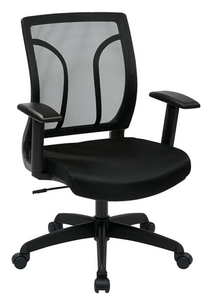EM Series Contemporary Black Wood Mesh Screen Back & Seat Chair OSP-EM50727-3M