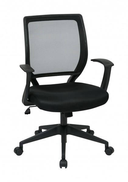 EM Series Black Screen Back T - Arms Task Chair OSP-EM51022N-3