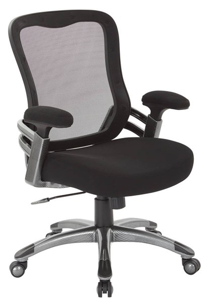 EMH Series Modern Black Nylon Mesh Back & Padded Arms Manager Chair OSP-EMH6918T-3M