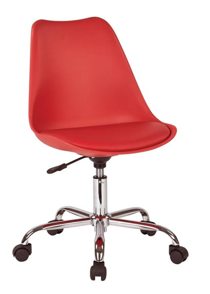 Emerson Red Pneumatic PU Cushion Chrome Base Student Office Chair OSP-EMS26-9