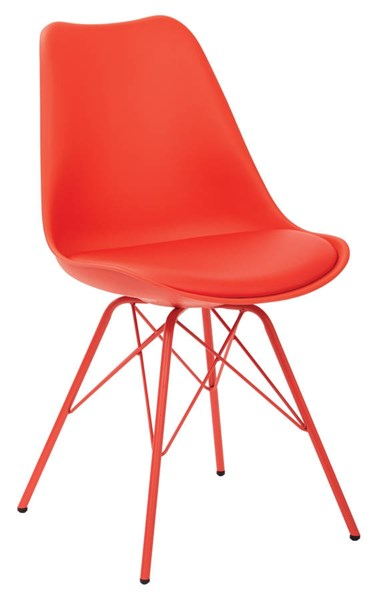 Emerson Red PP Seat & PU Cushion 4 Metal Legs Student Side Chair OSP-EMS26G-9