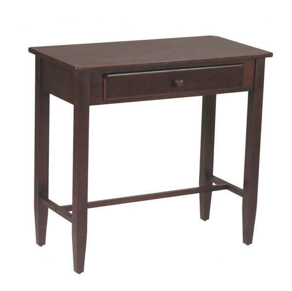 Contemporary Espresso Wood Rectangle Drawer  Foyer Table OSP-ES07