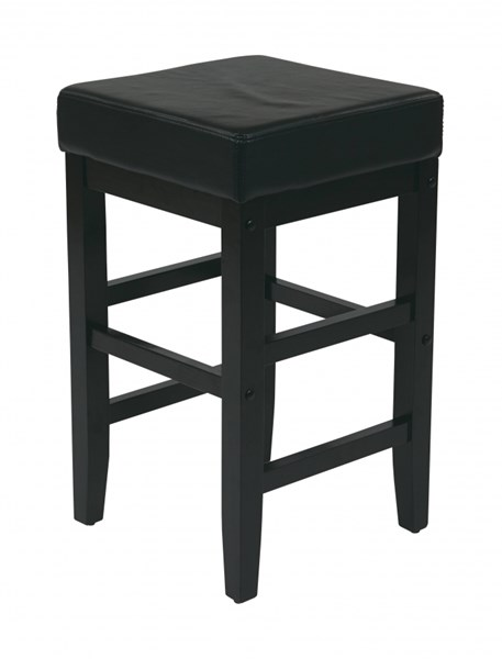 Metro Contemporary Black Wood Durable Padded Square Stools OSP-ES25V-ST-VAR
