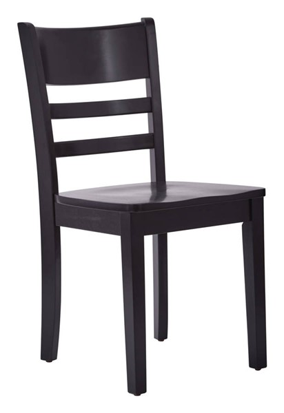 2 Everidge Contemporary Black Solid Wood Dinning Chairs OSP-EVR2632R-BK