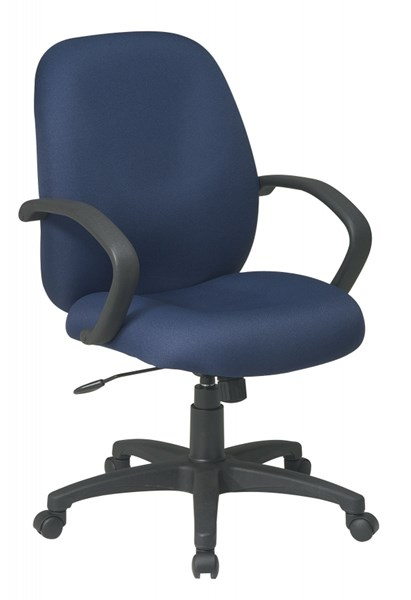 Navy Executive Mid Back Managers Chair w/Fabric Back OSP-EX2651-225