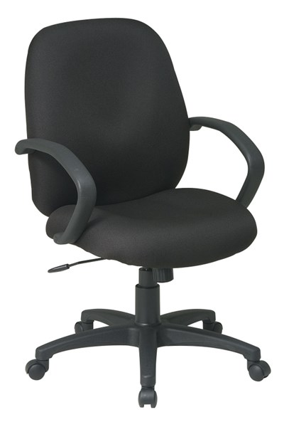 EX Series Black Fabric Mid Back Managers Executive Chair OSP-EX2651-231