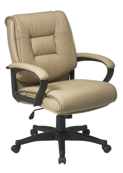 EX Series Tan Deluxe Mid Back Glove Soft Leather Executive Chair OSP-EX5161-G11