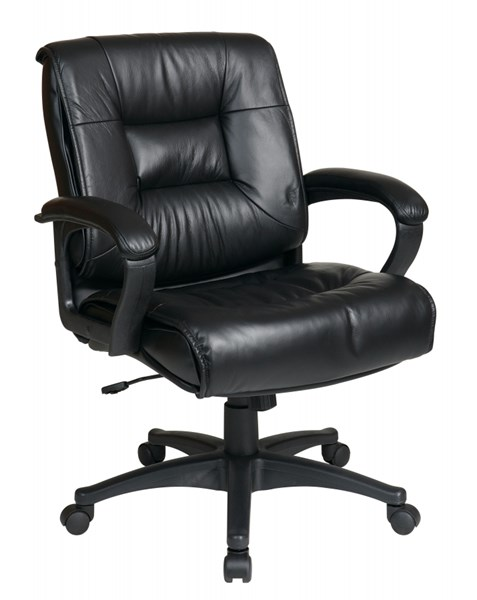 EX Series Black Deluxe Mid Back Glove Soft Leather Executive Chair OSP-EX5161-G13
