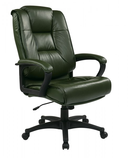 EX Series Green High Back Glove Soft Leather Executive Chair OSP-EX5162-G16