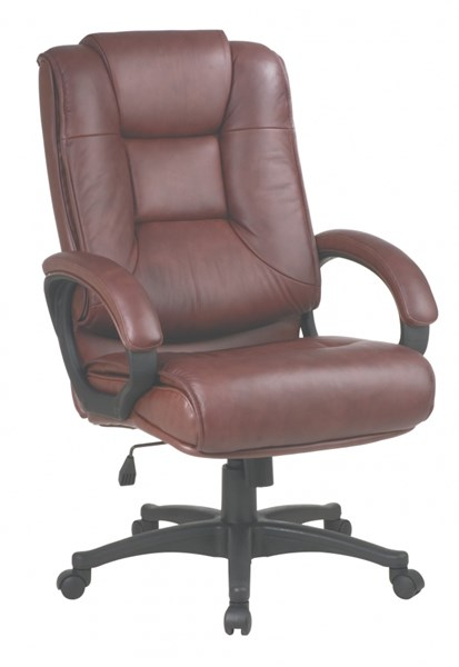 EX Series Saddle High Back Glove Soft Leather Executive Chair OSP-EX5162-G8