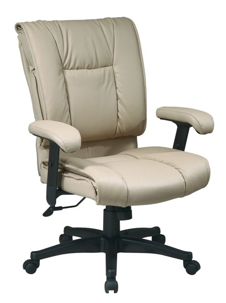EX Series Tan Mid Back Deluxe Leather Executive Chair OSP-EX9381-1