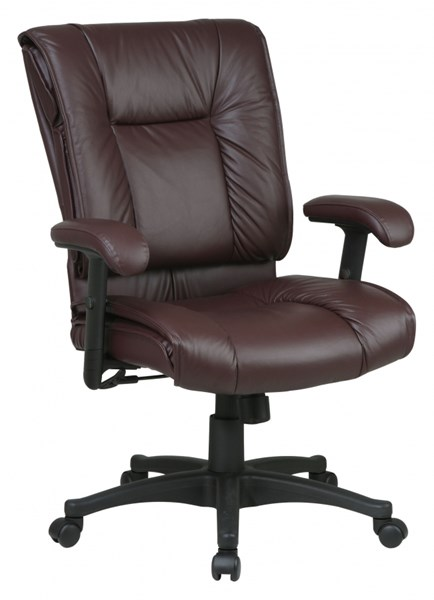 EX Series Burgundy Mid Back Deluxe Leather Executive Chair OSP-EX9381-4