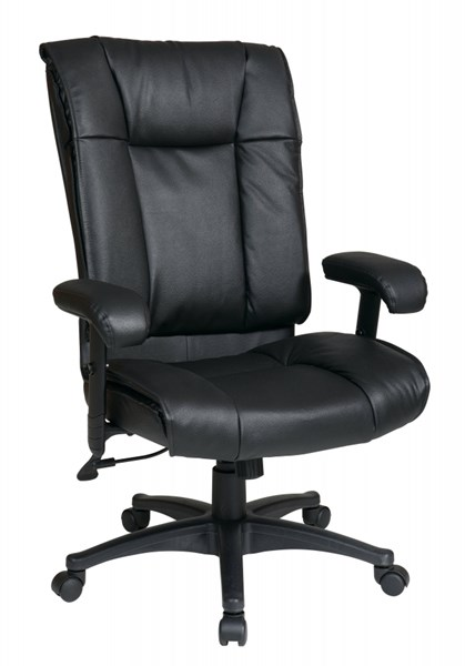 EX Series Black High Back Deluxe Leather Executive Chair OSP-EX9382-3