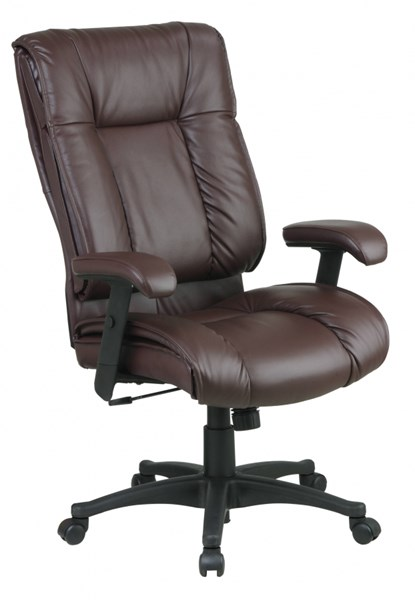 EX Series Burgundy High Back Deluxe Coated Leather Executive Chair OSP-EX9382-4