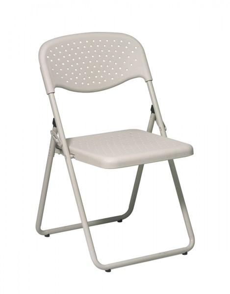 4 FC Series Beige Plastic Seat & Back Frame Folding Chairs OSP-FC8000NBG-11