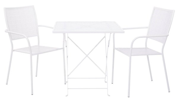 Country Blue Metal 3pc Dining Set - Folding Table & 2 Steel Chairs OSP-FCD11511