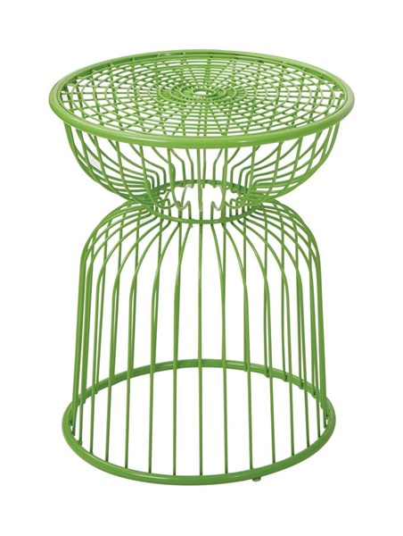 Modern Green Steel Hour Glass Shape Accent Table OSP-FCD140AS1-6
