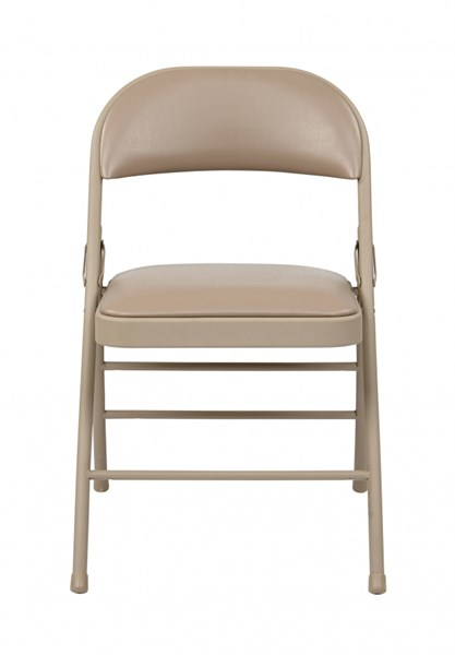 4 FF Series Tan Folding Chairs w/Vinyl Seat & Back OSP-FF-23124V