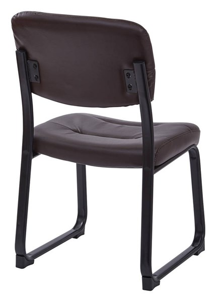 Faux Leather Visitor Chair with Sled Base OSP-FL1033-U-CH-VAR