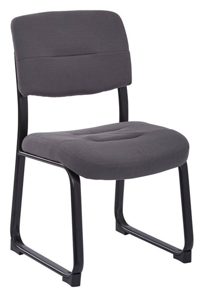 Executive Seating Charcoal Woven Metal Fabric Sled Base Visitor Chair OSP-FL1033-W12